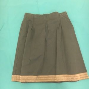 River Woods Cotton Pleated Skirt